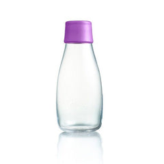 Retap - Glass Water Bottle - Small 300ml - Purple