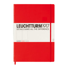 Leuchtturm 1917 - A4 Master - Plain - Hard Cover - Red
