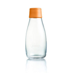 Retap - Glass Water Bottle - Small 300ml - Orange
