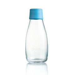 Retap - Glass Water Bottle - Small 300ml - Light Blue