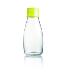 Retap - Glass Water Bottle - Small 300ml - Lemon Lime