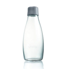 Retap - Glass Water Bottle - Medium 500ml - Grey