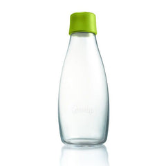 Retap - Glass Water Bottle - Medium 500ml - Forest Green