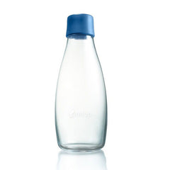 Retap - Glass Water Bottle - Medium 500ml - Dark Blue