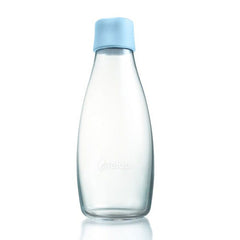 Retap - Glass Water Bottle - Medium 500ml - Baby Blue