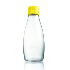 Retap - Glass Water Bottle - Medium 500ml - Yellow