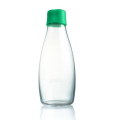 Retap - Glass Water Bottle - Medium 500ml - Strong Green