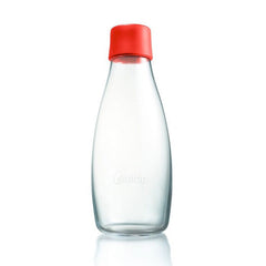 Retap - Glass Water Bottle - Medium 500ml - Red