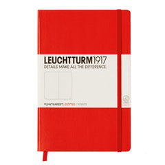 Leuchtturm 1917 - A5 - Dot Grid - Hard Cover - Red