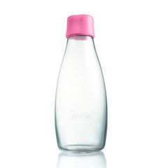 Retap - Glass Water Bottle - Medium 500ml - Pink