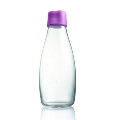 Retap - Glass Water Bottle - Medium 500ml - Purple