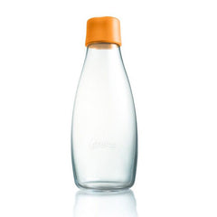 Retap - Glass Water Bottle - Medium 500ml - Orange
