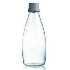 Retap - Glass Water Bottle - Large 800ml - Grey