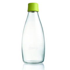 Retap - Glass Water Bottle - Large 800ml - Forest Green