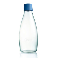 Retap - Glass Water Bottle - Large 800ml - Dark Blue