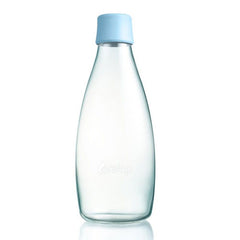 Retap - Glass Water Bottle - Large 800ml - Baby Blue