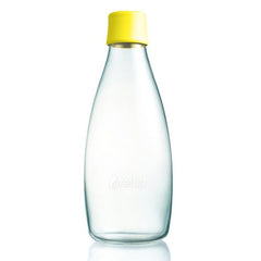 Retap - Glass Water Bottle - Large 800ml - Yellow
