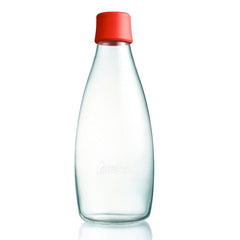 Retap - Glass Water Bottle - Large 800ml - Red