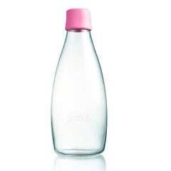 Retap - Glass Water Bottle - Large 800ml - Pink