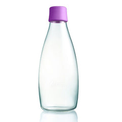 Retap - Glass Water Bottle - Large 800ml - Purple