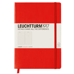 Leuchtturm 1917 - A5 - Lined - Hard Cover - Red