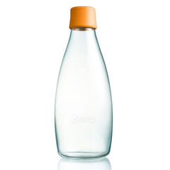 Retap - Glass Water Bottle - Large 800ml - Orange