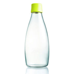 Retap - Glass Water Bottle - Large 800ml - Lemon Lime