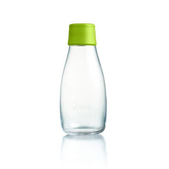 Retap - Glass Water Bottle - Small 300ml - Forest Green