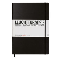 Leuchtturm 1917 - A4+ Master - Dot Grid - Hard Cover - Black