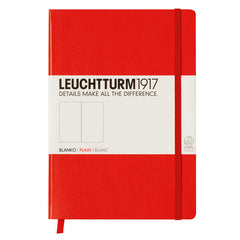 Leuchtturm 1917 - A5 - Plain - Hard Cover - Red