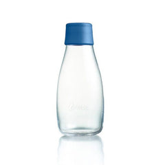 Retap - Glass Water Bottle - Small 300ml - Dark Blue