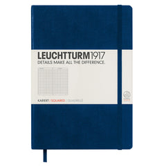 Leuchtturm 1917 - A5 - Squared - Hard Cover - Navy Blue