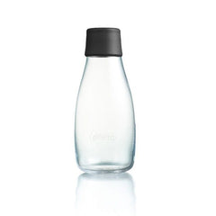Retap - Glass Water Bottle - Small 300ml - Black