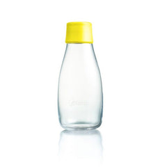 Retap - Glass Water Bottle - Small 300ml - Yellow