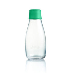 Retap - Glass Water Bottle - Small 300ml - Strong Green