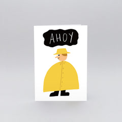 Wrap - Greeting Card - Ahoy