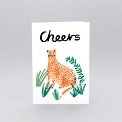 Wrap - Greeting Card - Cheers Cheetah