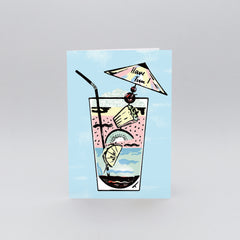 Wrap - Greeting Card - Have Fun Cocktail