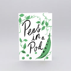 Wrap - Greeting Card - Peas In A Pod