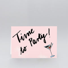 Wrap - Greeting Card  - Time To Party