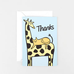 Wrap - Greeting Card - Thanks Giraffe
