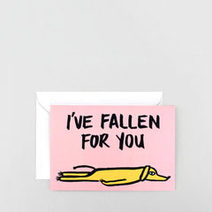 Wrap - Greeting Card - Fallen for you