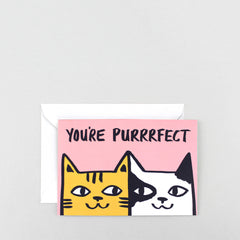Wrap - Greeting Card - You're Purrrfect