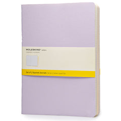Moleskine Notebook - Cahier - Set of 3 - Extra Large - Squared - Pastel Colours