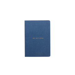 Mi Goals - Get Shit Done - Minimal - A6 - Lined Notebook - Navy