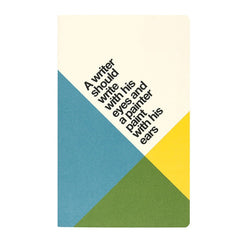 "Ogami Quotes Notebook - Ruled - Mini - ""A writer should write with his eyes..."""