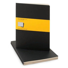 Moleskine Notebook - Cahier - Set of 3 - Extra Large - Squared - Black