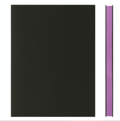 365 Memmo 2017 Weekly Diary Notebook Soft Cover Black Purple