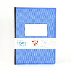 Clairefontaine Notebook - Back to Basics 1951 - A5 - Clothbound - Ruled Blue
