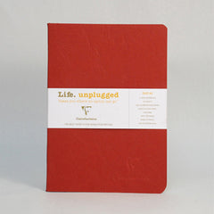Clairefontaine Notebook - Essentials Duo - Pack of 2 - A5 - Ruled Red